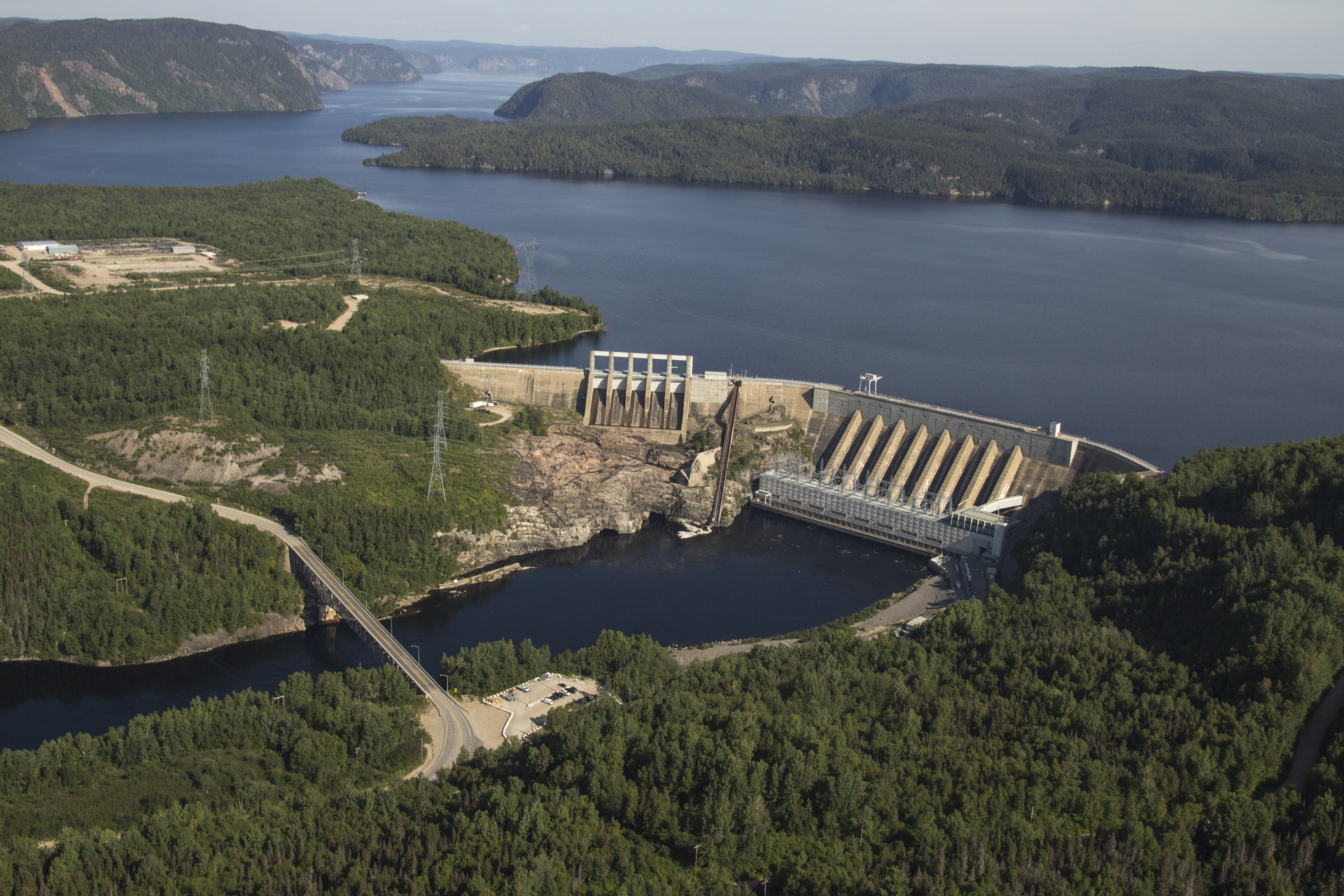 Impressionant barrage Manic 2 Credit photo Hydro Quebec