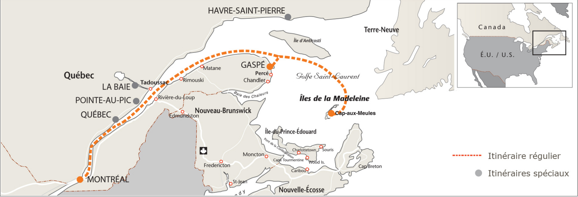 map itineraire regulier 2020